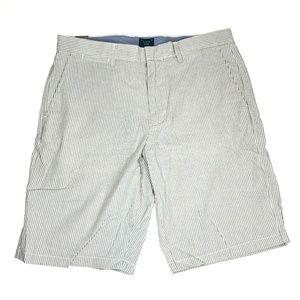 NWT J Crew Club Shorts Seersucker Stripe 32x10.5